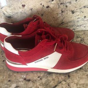 Michael Kors Red Sneakers
